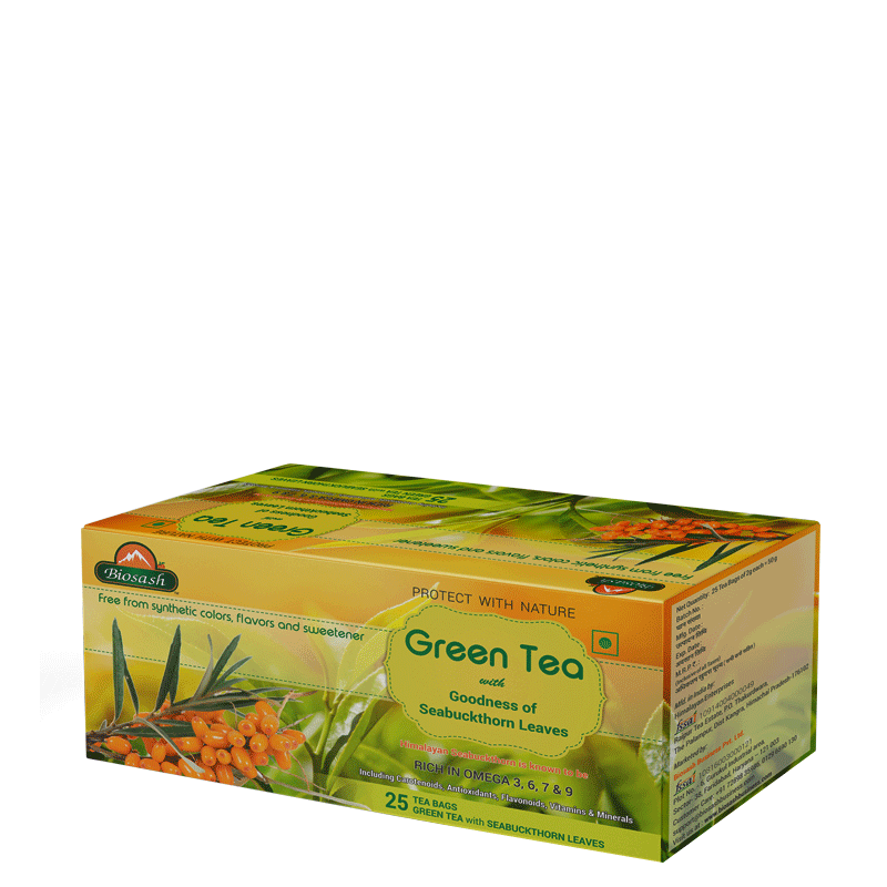 Green Tea With Seabuckthorn Leaves